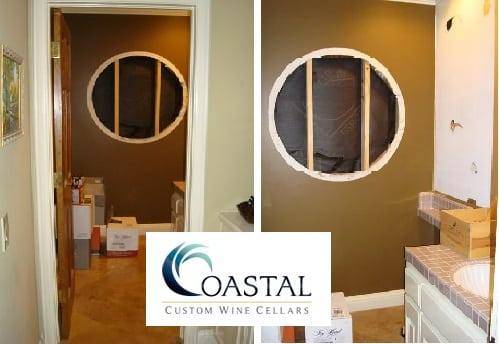 Coastal Builds a Wine Cellar from this Powder Room