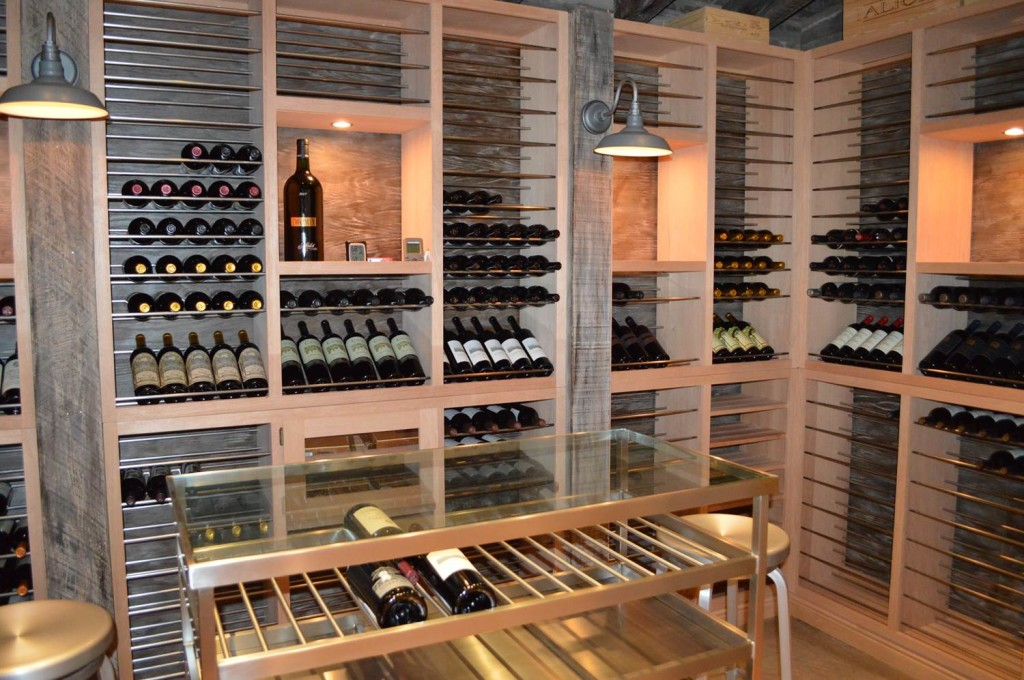 Modern Rustic South Miami Wine Cellar