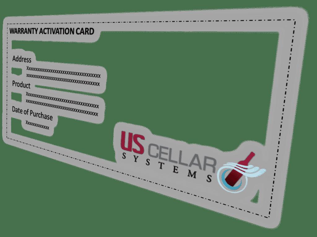 US Cellar Systems Warranty Registration Card