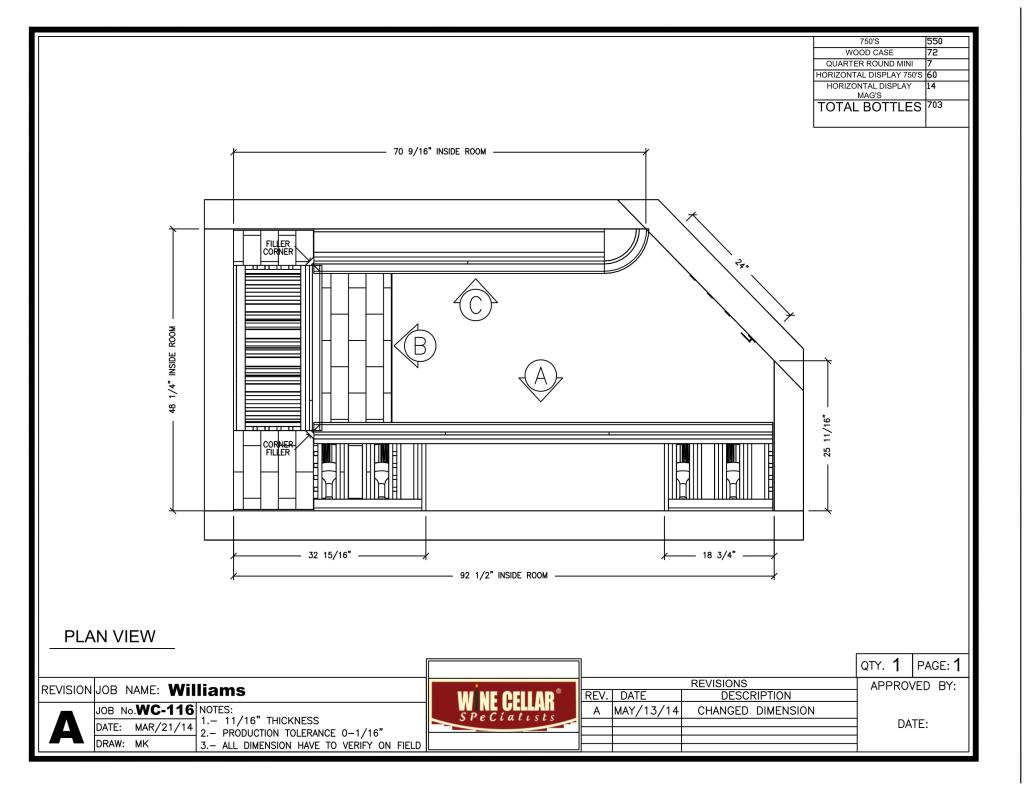 Home wine cellar cooling project in texas for Wine cellar plans