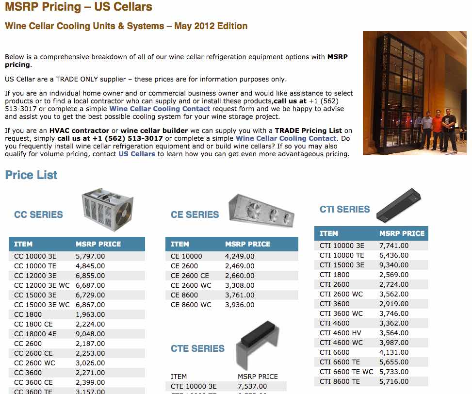See our pricing page that gives MSRP, Dealer, and High Volume Dealer Pricing