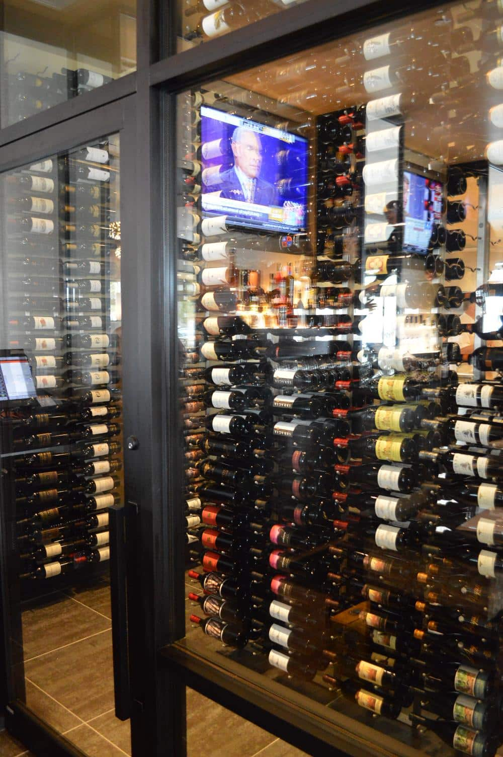 Dual Pane Glass Door Commercial Wine Cellar Cooling Project
