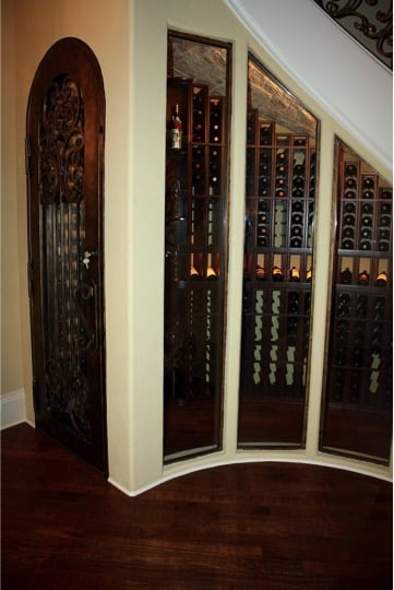 Stunning Custom Wine Rack Design Was Created By Wine Cellar Specialists For  A Curved Space Under