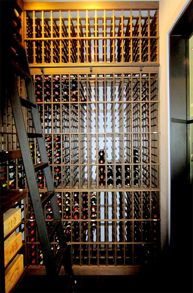 Dallas Texas Wine Cellar Requires Large Cooling Units Because of Huge Storage Capacity and Glass