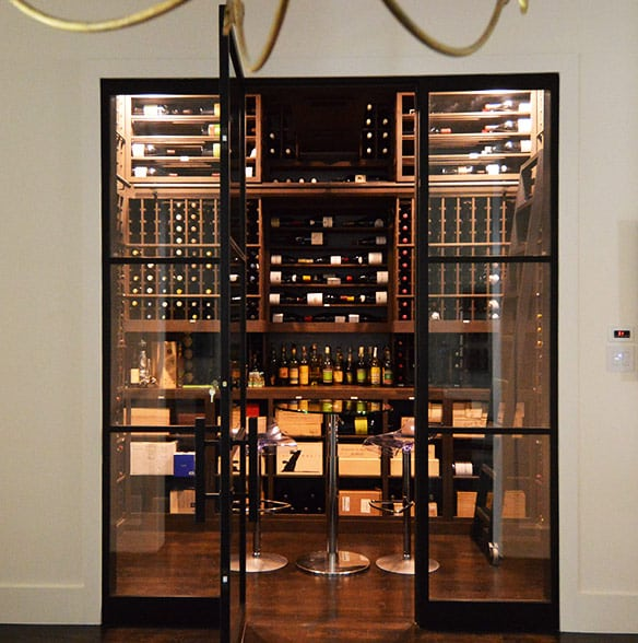 Dallas Texas Custom Wine Cellar Cooling Installation Project for Massive Storage