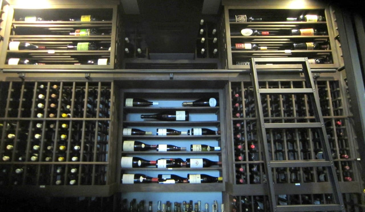 Upper Back Wall Custom Wine Cellar Racks